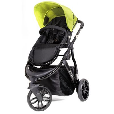Satin Black/Kiwi Full Size Strollers
