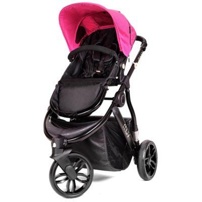 Muv GAAN 3-Wheel Stroller in Satin Black/Candy