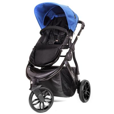 Muv GAAN 3-Wheel Stroller in Satin Black/Sky