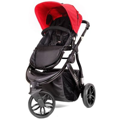 Muv GAAN 3-Wheel Stroller in Satin Black/Cabernet
