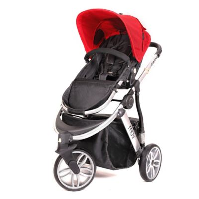 Arctic Silver/Cabernet Full Size Strollers