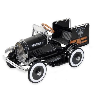 Dexton Deluxe Police Pick-Up Roadster Ride-On in Black