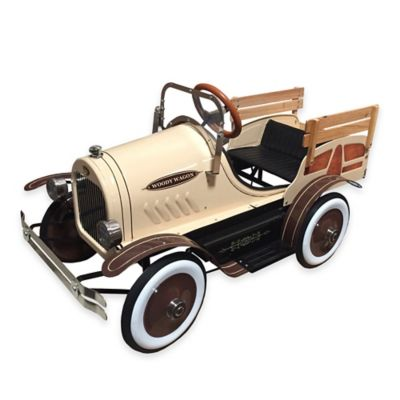 Dexton Deluxe Woody Wagon Roadster Ride-On in Brown