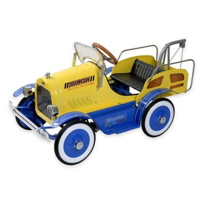 Dexton Deluxe Tow Truck Roadster Ride-On in Blue/Yellow