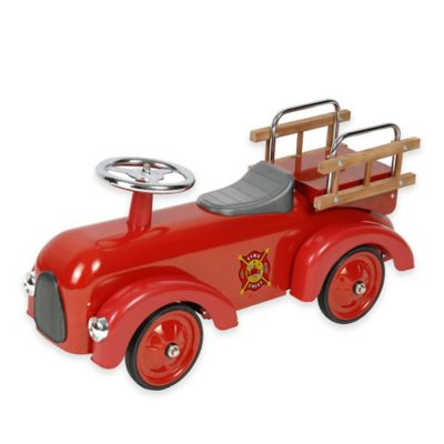 Dexton Classic Fire Engine Ride-On Racer
