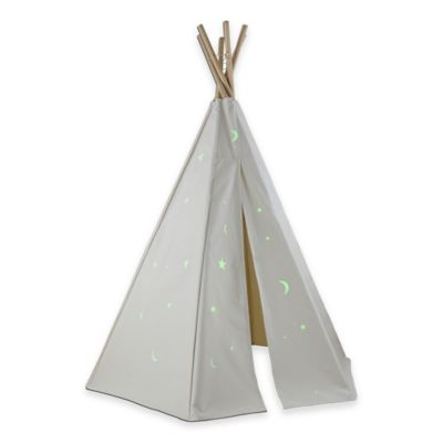 Dexton 6-Foot Great Plains Play Teepee with Glow-in-the-Dark Stars