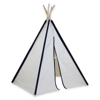Dexton 6-Foot Hideaway Pocket Play Teepee in Blue/White