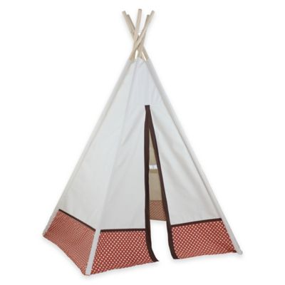 Dexton 6-Foot Polka Dot Hideaway Play Teepee in Orange