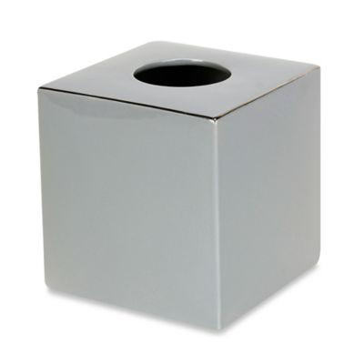 Martinez Ceramic Boutique Tissue Box Cover in Grey