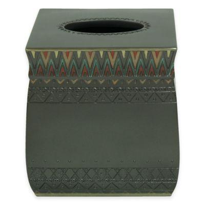 Bacova Sierra Zig Zag Boutique Tissue Box Cover
