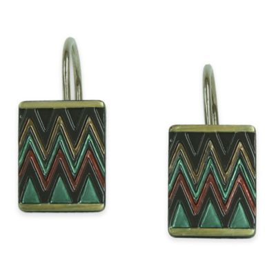 Bacova Sierra Zig Zag Shower Curtain Hooks (Set of 12)