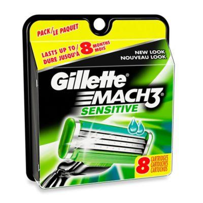 Gillette® Mach3® 8-Count Sensitive Power Razor Cartridges