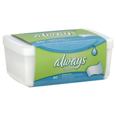 Always® 40-Count Feminine Wipes in Tub