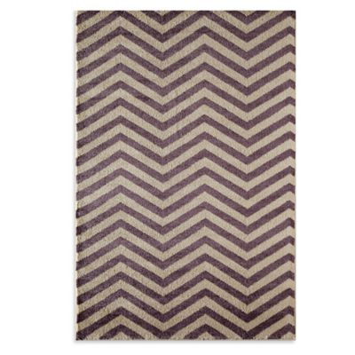 Rugs America Hudson Chevron 5-Foot 3-Inch x 7-Foot 10-Inch Area Rug in Slate