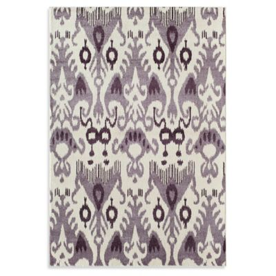 Rugs America Taza Ikat 5-Foot 3-Inch x 7-Foot 10-Inch Area Rug in Taupe
