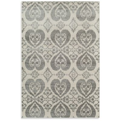 Rugs America Taza Mirror 5-Foot 3-Inch x 7-Foot 10-Inch Area Rug in Grey