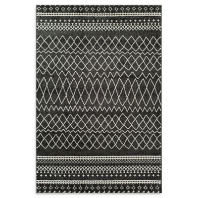 Rugs America Tangier Diamond Border 3-Foot 11-Inch x 5-Foot 3-Inch Area Rug in Cream