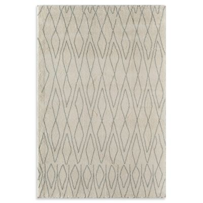 Rugs America Tangier Diamonds 2-Foot 3-Inch x 7-Foot 10-Inch Runner in Ivory