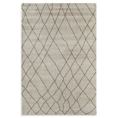 Rugs America Tangier Net 3-Foot 11-Inch x 5-Foot 3-Inch Area Rug in Cream