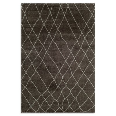 Rugs America Tangier Net 2-Foot 3-Inch x 7-Foot 10-Inch Area Rug in Bistre Brown