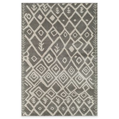 Gray Tribal Rug