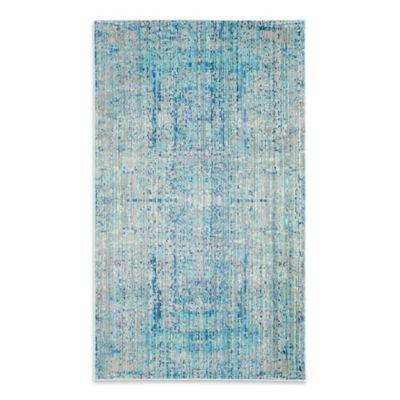 Safavieh Mystique 3-Foot x 5-Foot Area Rug in Light Blue/Multi