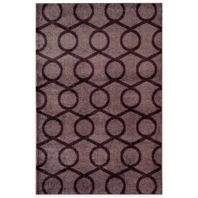 Rugs America Hudson Links 5-Foot 3-Inch x 7-Foot 10-Inch Area Rug in Purple