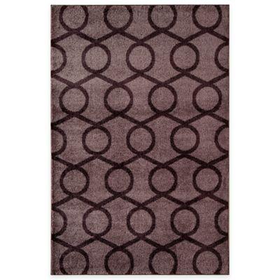 Rugs America Hudson Links 7-Foot 10-Inch x 10-Foot 10-Inch Area Rug in Purple
