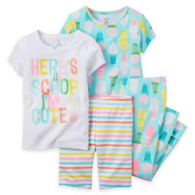 carter's® Size 2T 4-Piece Scoop Pajama Set in Light Blue