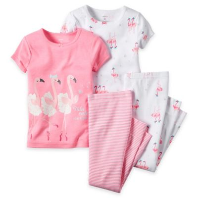 carter's® Size 2T 4-Piece Flamingo Pajama Set in Pink