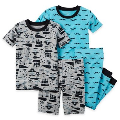 carter's® Size 18M 4-Piece Whale Pajama Set in Blue