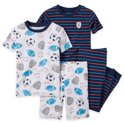carter's® Size 12M 4-Piece Sports Pajama Set in Blue