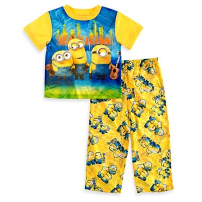Disney® Minions Size 2T 2-Piece Short-Sleeve Pajama Set in Yellow