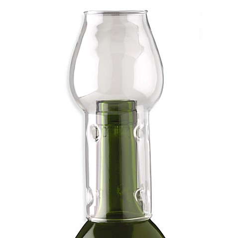 Oenophilia Afterglow Glass Globe Wine Bottle Flame Protector