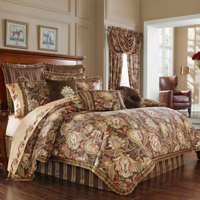J. Queen New York™ Coventry Queen Comforter Set in Brown