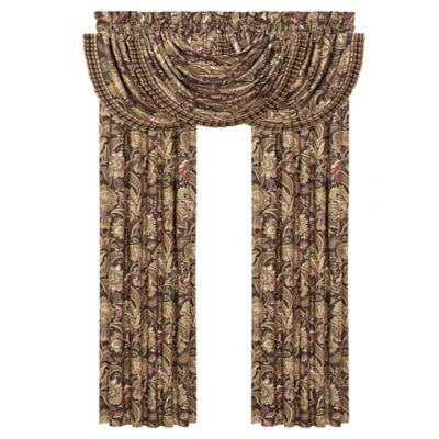 J. Queen New York™ Coventry Waterfall Window Valance in Brown