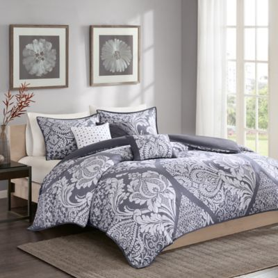 Regency Heights Vienna Full/Queen Duvet Cover Set in Grey