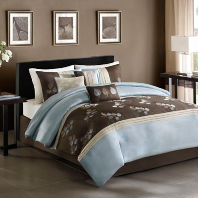 Regency Heights Tory Full/Queen Duvet Cover Set in Blue