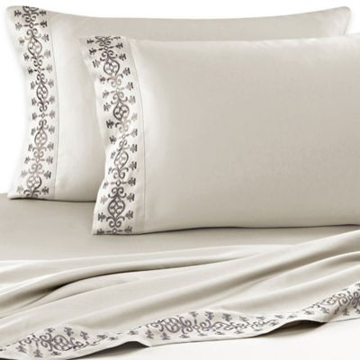 J. Queen New York™ Bohemia Queen Sheet Set in Champagne