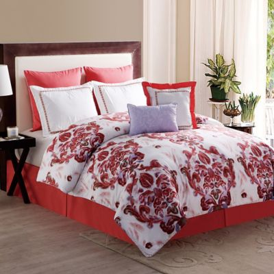 Pavillion 8-Piece Queen Comforter Set in Coral