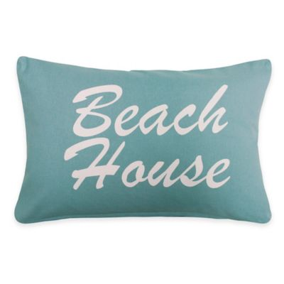 "The Vintage House by Park B. Smith ""Beach House"" Oblong Throw Pillow"