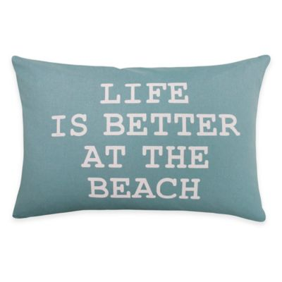 "The Vintage House by Park B. Smith ""Better at the Beach"" Oblong Throw Pillow"