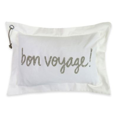 "Bon Voyage"" Oblong Throw Pillow Decorative Pillows"
