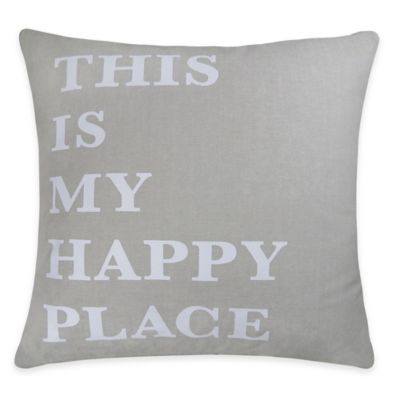 The Vintage House by Park B. Smith® Happy Place Square Throw Pillow
