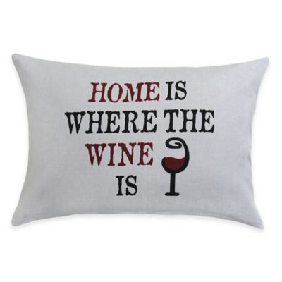 Home Wine Oblong Throw Pillow Throw Pillows