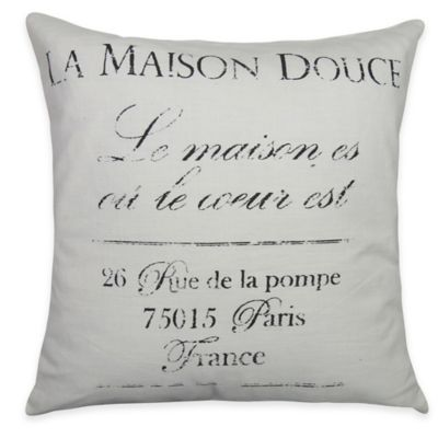 The Vintage House by Park B. Smith La Maison Square Throw Pillow
