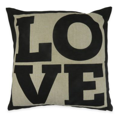 "The Vintage House by Park B. Smith ""Love"" Square Throw Pillow"