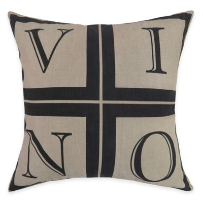 The Vintage House by Park B. Smith Vino Square Throw Pillow