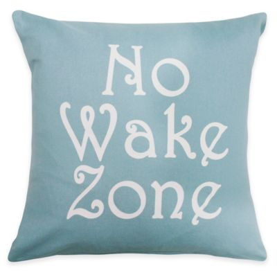 "The Vintage House by Park B. Smith ""No Wake Zone"" Square Throw Pillow"