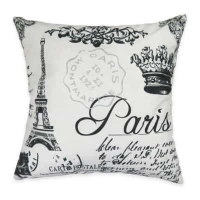 The Vintage House by Park B. Smith Parris Collage Square Throw Pillow